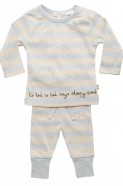 Baby Boys Organic Winter Pyjamas - sky sleep stripe