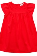 Pure Baby Bamboo Dress - Pomegranate