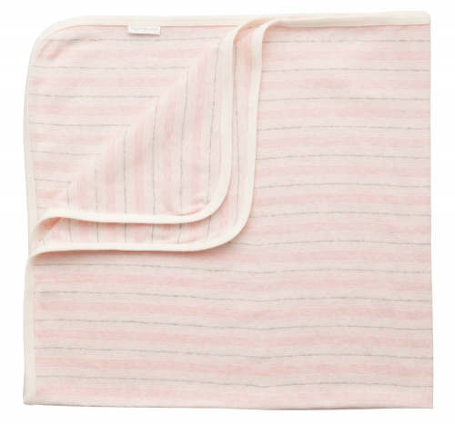 Pure Baby Bunny Rug Soft Pink Stripe
