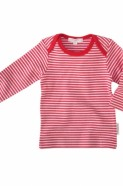 Pure Baby Easy Neck Long Sleeve - Red Stripe