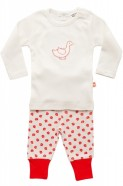 baby girls organic cotton pajamas scarlet leaf