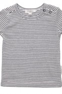 Pure Baby Long Sleeve Top - Navy Mini Stripe