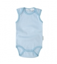 Pure Baby Singlet Bodysuit - Pale Blue Stripe