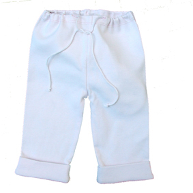 Sckoon Organic Cotton Elf Pants - White