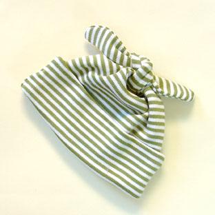 Sckoon Organic Knot Cap ZEN- Green Stripes