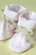 Sckoon Organic ZEN Cotton Booties - Pink Stripe