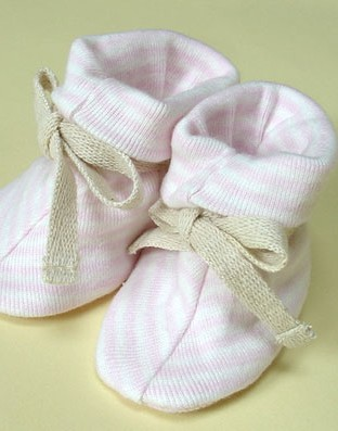 Sckoon Organic ZEN Cotton Booties - Pink Stripe
