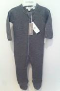 baby organic zip footed bodysuit